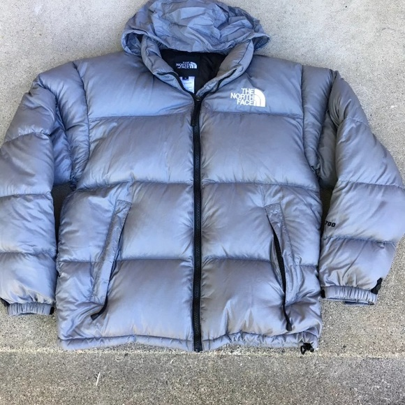 34a5a0140 North Face Men's Gray Puffer Jacket Med
